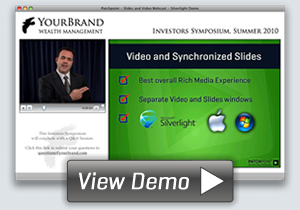 View Webcast Demo